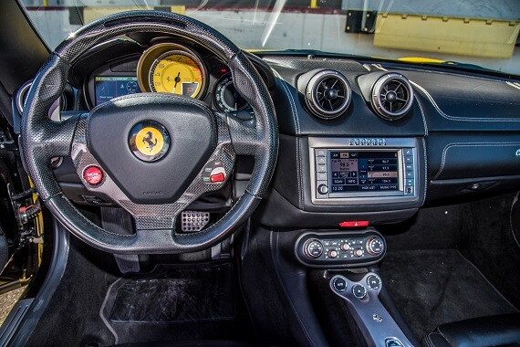 inside ferrari california